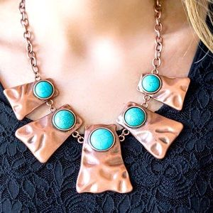 Cougar - Copper/Turquoise Necklace